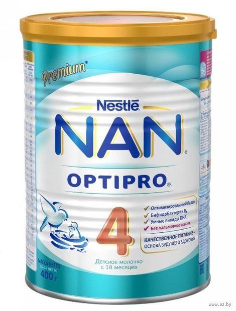 """Сухая молочная смесь NAN 4 OPTIPRO """"Premium"""" (400 г) — фото, картинка"""