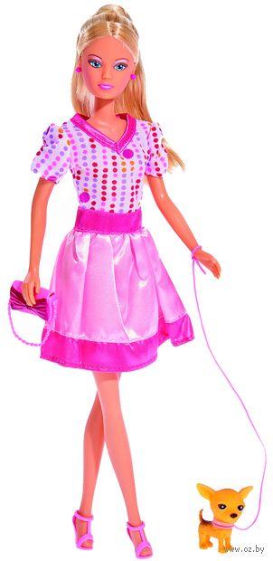 """Кукла """"Штеффи с собачкой и сумочкой"""" — фото, картинка"""