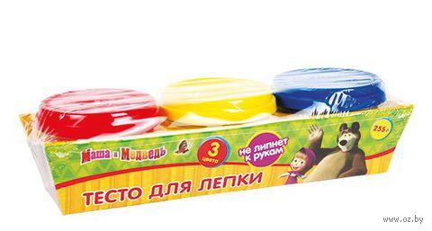 "Тесто для лепки ""Маша и Медведь"" (3 цвета)"