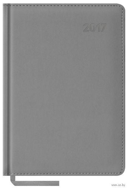 """Ежедневник датированный """"Vivella"""", 2017 (А5; 176 листов; серый)"""