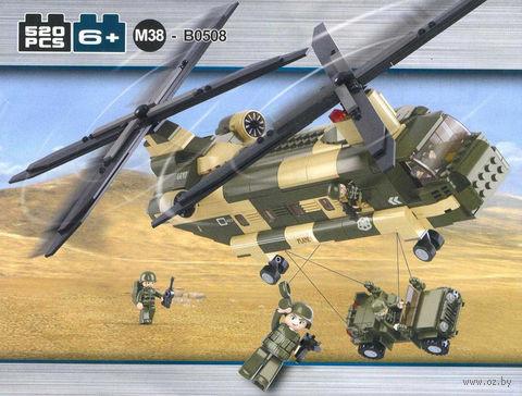 """Конструктор """"ВВС. Транспортный вертолет"""" (520 деталей) — фото, картинка"""