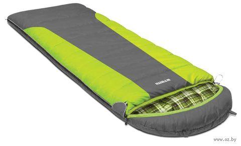 Спальный мешок Quilt 400R (правый; серо-зелёный) — фото, картинка