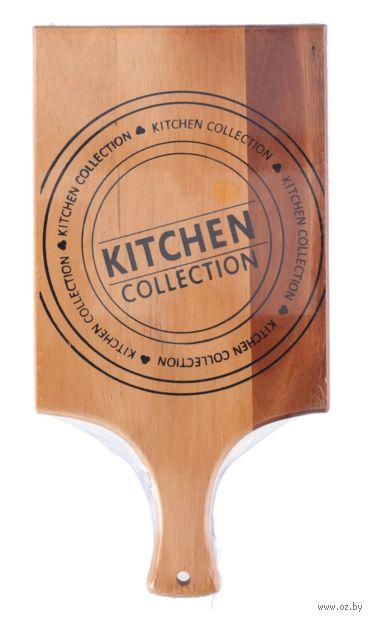 Доска разделочная деревянная (381х195х15 мм) — фото, картинка