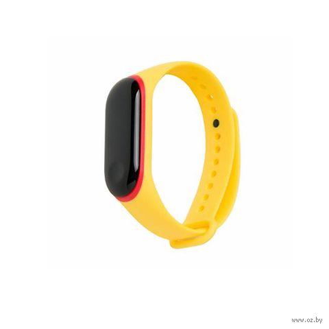 Ремешок для Xiaomi Mi Band 3 и Mi Band 4 (желтый с красным) — фото, картинка