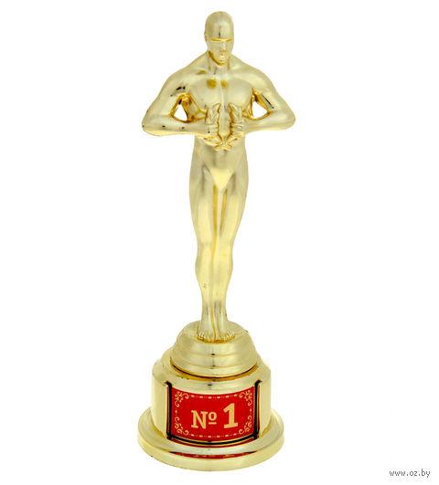 "Статуэтка пластмассовая ""Оскар. №1"" (66х63х185 мм)"