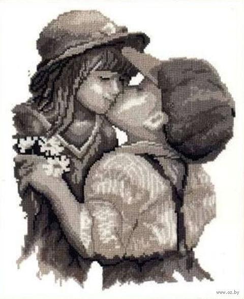 """Вышивка крестом """"Поцелуй"""" (250x300 мм) — фото, картинка"""