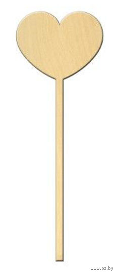 "Заготовка деревянная ""Сердце на ножке №1"" (62х167 мм)"