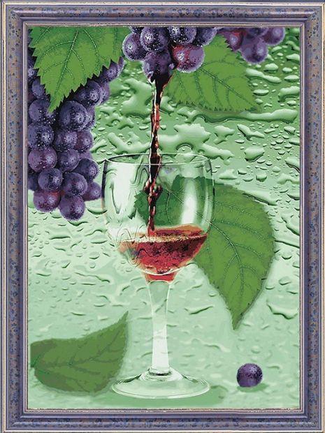 """Вышивка пайетками """"Виноградный сок"""" (300х400 мм) — фото, картинка"""