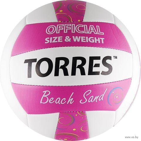 """Мяч волейбольный Torres """"Beach Sand Pink"""" №5 — фото, картинка"""