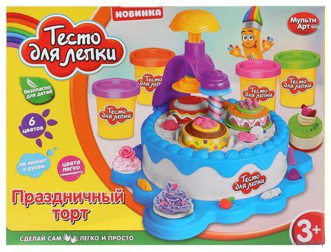 """Набор для лепки из теста """"Праздничный торт"""" — фото, картинка"""