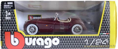 """Модель машины """"Bburago. Jaguar XK 120 roadster"""" (масштаб: 1/24) — фото, картинка"""