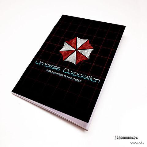 """Блокнот белый """"Обитель зла. Umbrella Corporation"""" А7 (арт. 424)"""