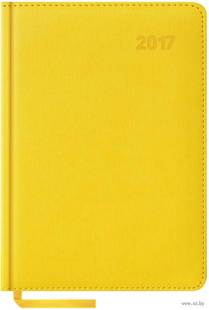 """Ежедневник датированный """"Vivella"""", 2017 (А5; 176 листов; желтый)"""