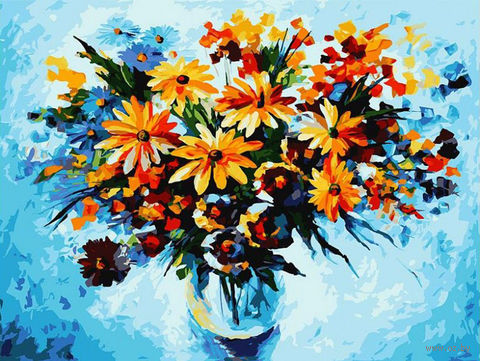 "Картина по номерам ""Разноцветные ромашки"" (300х400 мм) — фото, картинка"