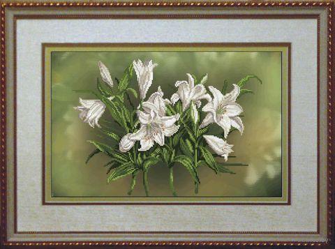 """Вышивка крестом """"Цветочный пируэт"""" (410х260 мм) — фото, картинка"""