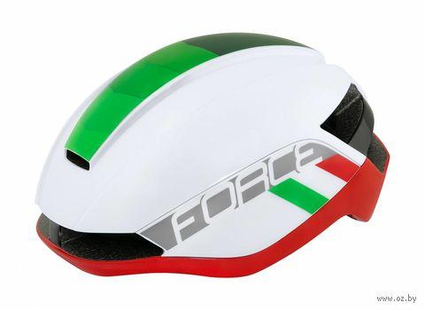 """Шлем велосипедный """"Orca"""" (S-M; белый/зелёный/красный) — фото, картинка"""