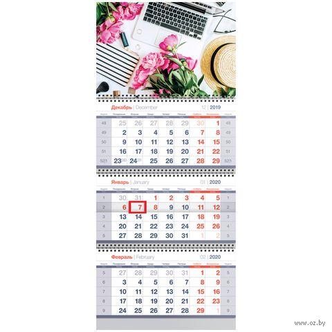 """Календарь настенный квартальный на 2020 год """"Lady Boss"""" (29,5х70 см) — фото, картинка"""