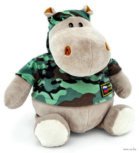 """Мягкая игрушка """"Бегемот Военный"""" (27 см)"""