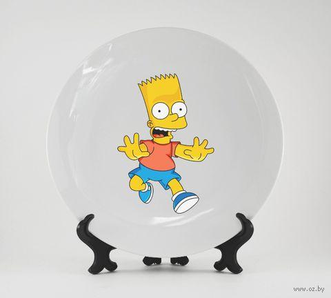 """Тарелка """"Барт Симпсон"""" (арт. 255)"""