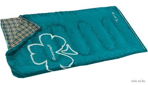 """Спальный мешок """"Тори"""" (правый; зелёный) — фото, картинка"""
