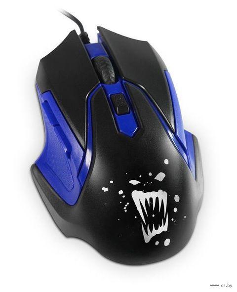 Мышь игровая Partner Rage RM-07 (черно-синяя) — фото, картинка
