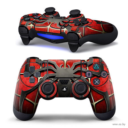 "Наклейка защитная для геймпада ""Spiderman"" (TN-PS4QB-0012) (PS4)"