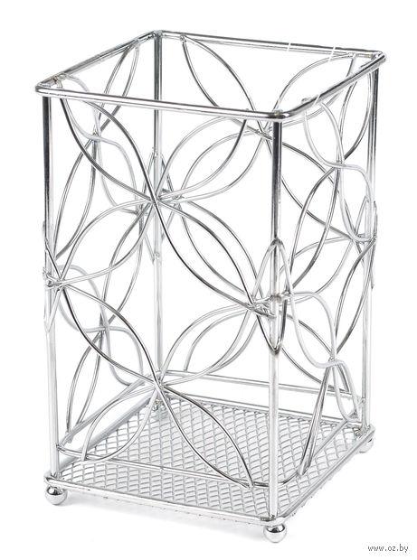 Подставка для столовых приборов металлическая (110х110х180 мм)