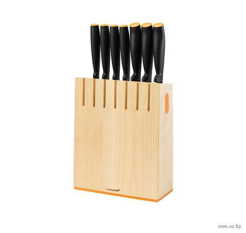 Набор ножей с деревянным блоком Functional Form Fiskars (7 штук)