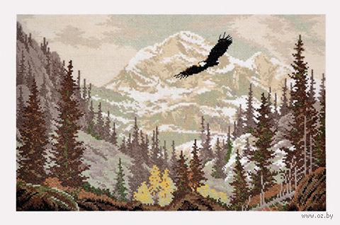 """Вышивка крестом """"Повелитель гор"""" (400x240 мм) — фото, картинка"""