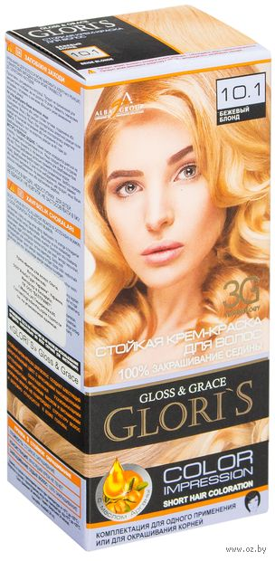 Крем-краска для волос (тон: 10.1, бежевый блонд) — фото, картинка