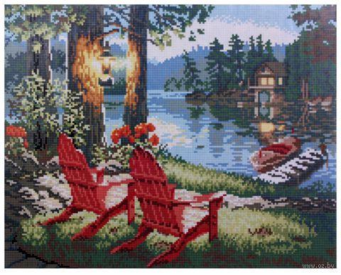 "Алмазная вышивка-мозаика ""На отдыхе"" (400x500 мм) — фото, картинка"