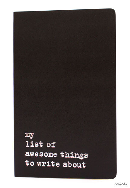 """Записная книжка Молескин """"Volant. My List of Awesome Things"""" в линейку (большая; мягкая черная обложка)"""
