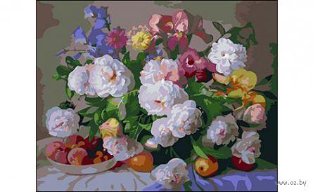 """Картина по номерам """"Цветы и фрукты"""" (400x500 мм) — фото, картинка"""