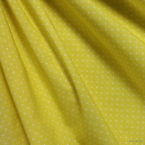 """Ткань """"Мелкий горошек"""" (желтая) — фото, картинка"""