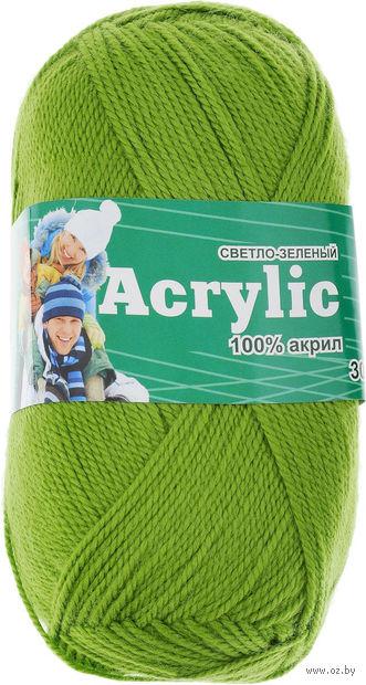 "Пряжа ""Астра. Acrylic"" (светло-зеленая; 100 г; 300 м) — фото, картинка"
