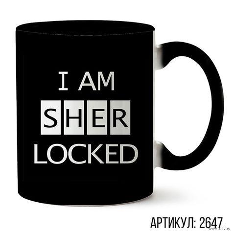 """Кружка """"Шерлок"""" (черная; арт. 2647) — фото, картинка"""
