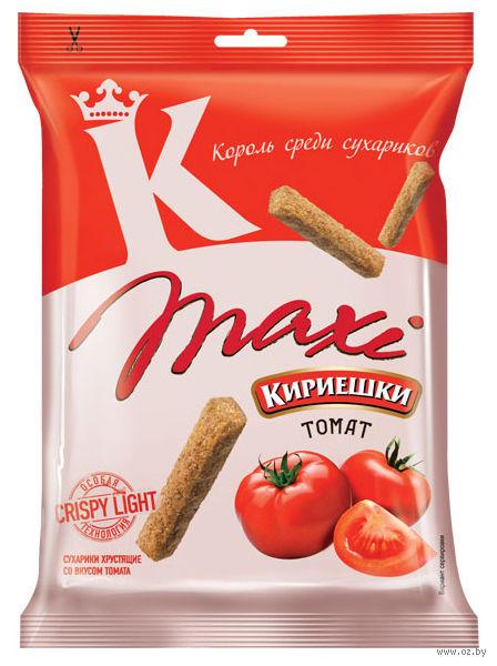 """Сухарики ржано-пшеничные """"Maxi. Томат"""" (60 г) — фото, картинка"""