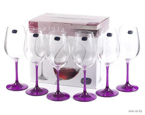 "Бокал для вина стеклянный ""Viola"" (6 шт.; 350 мл; арт. 40729/D4834/350) — фото, картинка"
