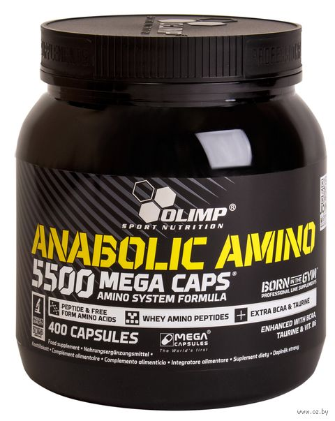 "Аминокислоты ""Anabolic Amino 5500 Mega Caps"" (400 капсул) — фото, картинка"