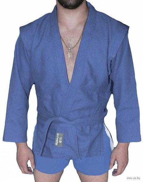 """Куртка для самбо """"AX5"""" (р. 22; синяя; без подкладки) — фото, картинка"""
