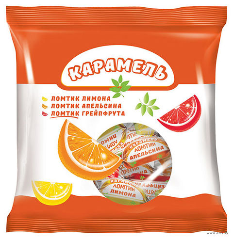 "Карамель леденцовая ""Ломтик. Грейпфрут, апельсин и лимон"" (180 г) — фото, картинка"