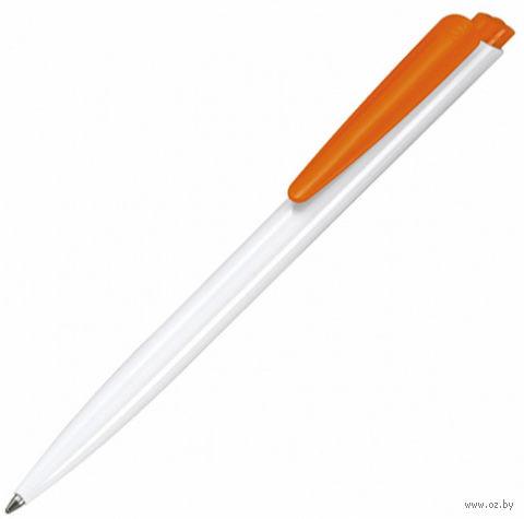 """Ручка шариковая синяя """"Dart"""" (1,0 мм; бело-оранжевый корпус)"""