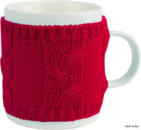 Кружка в теплом вязаном свитере (350 мл)