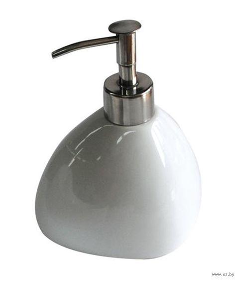 Дозатор для жидкого мыла керамический (15 см; арт. 590665)