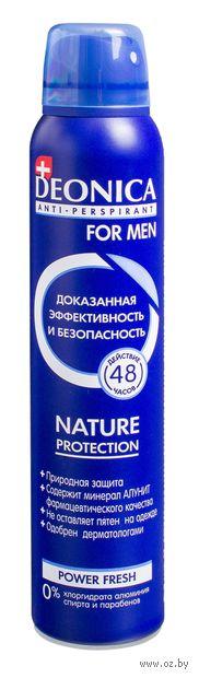 """Дезодорант-антиперспирант для мужчин """"Nature Protection"""" (спрей; 200 мл)"""