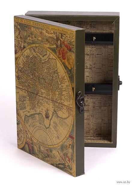 Ящик для ключей деревянный настенный (255х185х65 мм; арт. 7790102)