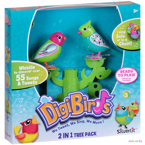 """Интерактивная игрушка """"Две птички с деревом"""""""