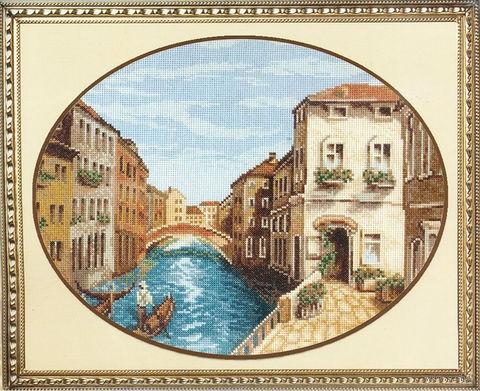 """Вышивка крестом """"Утро Венеции"""" (345х280 мм) — фото, картинка"""