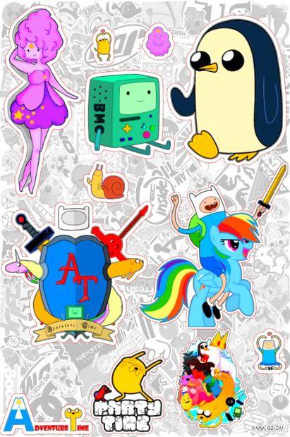 """Набор глянцевых наклеек """"Adventure Time"""" №2"""