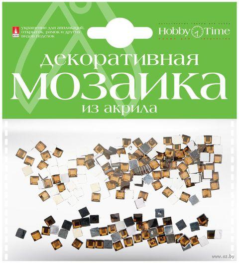 Мозаика декоративная из акрила №6 (4х4 мм; 200 шт.; коричневый) — фото, картинка